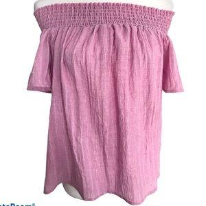 Ci Sono Pink Off the Shoulder Top Sz L
